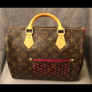 100%Authentic Louis Vuitton Pink Perforated Speedy